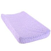BabyShop Plush Changing Pad Cover - Liliac Dot