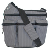 Nappy Dude Grey Pinstripe Original Messenger Nappy Bag