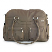 JJ Cole Satchel Faux Leather Nappy Bag - Café