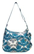JJ Cole Boutique Zoey Nappy Bag - Teal Fleur