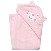 Carter's Girls Kitty Hooded Towel -  Pink
