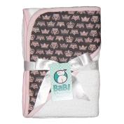 Crown Jewel Hooded Towel - White