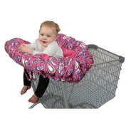 Floppy Seat Classic Plush Shopping Cart & High Chair Cover - Shells Swirls