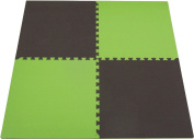 "Tadpoles Double Sided Playmat Set (24"") 4 Piece - Green/Brown"