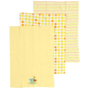 SpaSilk Cotton 3 Pack Burpcloths - Yellow