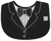 Frenchie Mini Couture Tuxedo Bib with 3D Applique