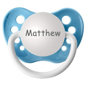 BPA Free Matthew Pacifier with Protection Cap - Blue