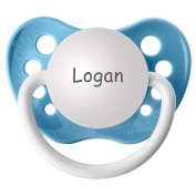 BPA Free Logan Pacifier with Protection Cap - Blue
