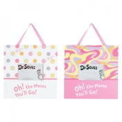 Trend Lab 2 Piece Dr.Seuss Frame Set, Oh! The Places You'll Go! Pink