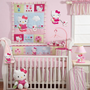 Lambs & Ivy Hello Kitty & Puppy Crib Sheet