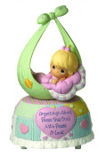 Precious Moments Little Blessings Baby Girl Music Box Figurine 'Always In My Heart'