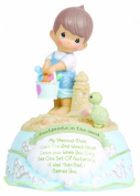 Precious Moments Footprints in the Sand Musical Figurine