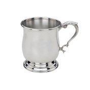 Lunt Tankard Baby Cup with Rolled Edge - Pewter