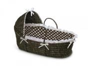Badger Basket Moses Basket with Polka Dot Hood and Bedding