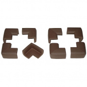 Kid Kusion 5825 Toddler Kusions for Corners- 8 Pack Brown