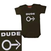 Silly Souls TT-12a-12 Dude- 6-12 Month Bodysuit- Black