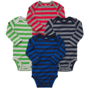 Carter's Boys 4-Pack Long Sleeve Striped Bodysuits