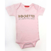 Silly Souls BH-50-6 Rockette- My Cradle Shall Rock- 3-6 Month Bodysuit- Pink