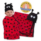 Sozo Ladybug Swaddle Blanket & Cap Set