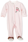 Little Me Girls Sweetie Monkey Footie - Pink