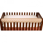 Cotton Tale Raspberry Dot Front Crib Rail Cover Up