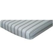 Blue and Chocolate Stripe Crib Sheet