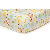 Carter's Easy Fit Crib Printed Fitted Sheet - Safari/Duck
