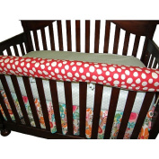 Cotton Tale Lizzie Front Crib Rail Cover Up
