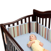 BreathableBaby Breathable Crib Bumper - Neutral Stripe