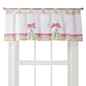 My Baby Sam Pink, Green PB in Pink Curtain Valance