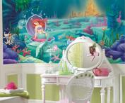 RoomMates Littlest Mermaid Chair Rail Prepasted Mural 6' x 10.5'