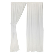 Living Textiles Baby Twill Curtains - Ivory