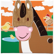 Studio Arts Kids Animal Farm Collection Embellished Wall Hanging - Horse