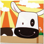 Studio Arts Kids Animal Farm Collection Embellished Wall Hanging - Cow