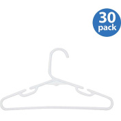 Honey-Can-Do Clothing Hangers White Kid's Tubular 26g Hanger with Notch (30-Pack) HNGT01328