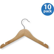 Honey Can Do HNGT01224 10 Pack Kids Basic Shirt Hanger - Maple Finish