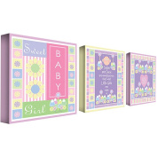 Trademark Art Grace Riley 3 Piece Canvas Art Set - Sweet Baby Girl