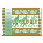 Trademark Art Grace Riley Canvas Art - Football