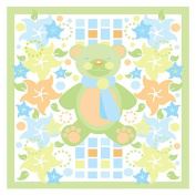 Trademark Art Grace Riley Canvas Art - Teddy Bear and Flowers