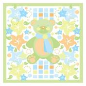 Trademark Art Grace Riley Canvas Art - Teddy Bear and Flowers