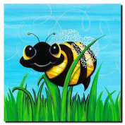Trademark Art Sylvia Masek Canvas Art - Bee at Play