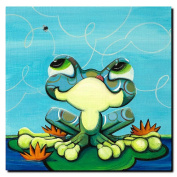 Trademark Art Sylvia Masek Canvas Art - Frog's Lunch