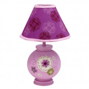 NoJo Pretty in Purple Lamp & Shade