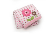 Carter's Printed Embroidered Boa Blanket - Floral Mix