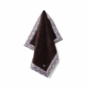 Baby Star Poodle Blanket - Flutter Pink on Chocolate