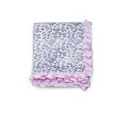 Carter's Velour/Sherpa Blanket - Pink Cheetah