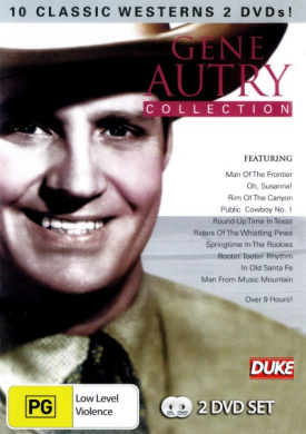 Gene Autry Collection (10 Movies, 2 Discs) (Inc. Man of the Frontier / Oh, Susanna! / Rim of the Canyon / Round-Up Time in Texas