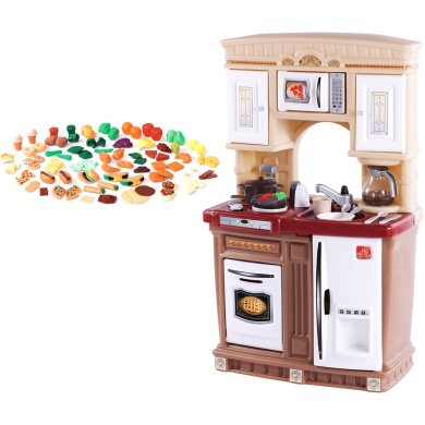 Step2 lifestyle fresh accents kitchen and play food set for Kitchen set nz