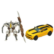 Transformers Dark Of The Moon Bumblebee Figure With Deluxe Class Starscream Vehicle