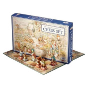 Peter Rabbit Hand-Painted Chess Set by Studio Anne Carlton